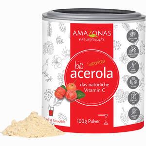 Abbildung von Acerola Bio- Pulver Natürliches Vitamin C  100 g