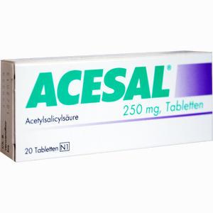 Abbildung von Acesal 250mg Tabletten 20 Stück