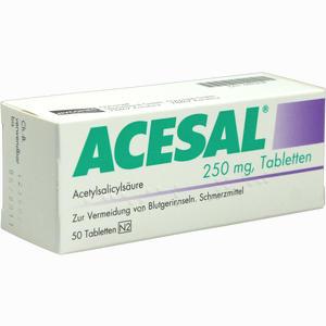 Abbildung von Acesal 250mg Tabletten 50 Stück