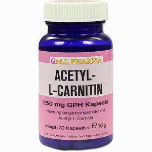 Abbildung von Acetyl- L- Carnitin 250mg Kapseln  30 Stück