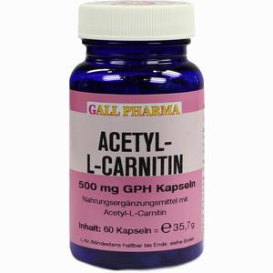 Abbildung von Acetyl- L- Carnitin 500mg Kapseln  60 Stück