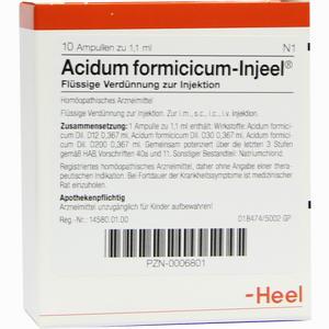 Abbildung von Acidum Formicicum- Injeel Ampullen 10 Stück