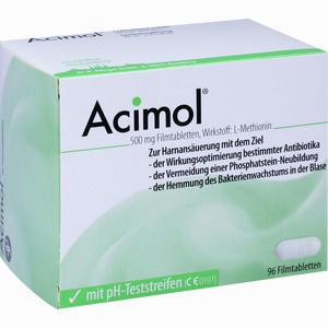 Abbildung von Acimol mit Ph- Teststreifen Filmtabletten 96 Stück