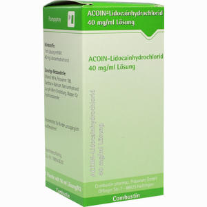 Abbildung von Acoin- Lidocainhydrochlorid 40mg/ml Lösung 50 ml