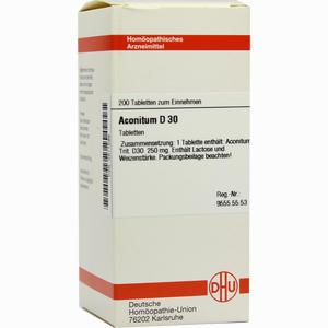 Abbildung von Aconitum D30 Tabletten 200 Stück
