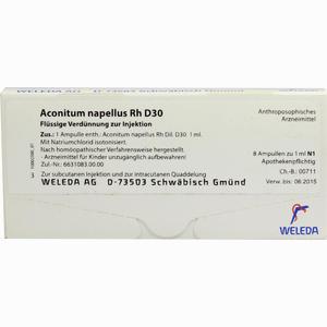 Abbildung von Aconitum Napell Rh D30 Ampullen 8 x 1 ml