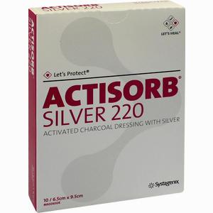 Abbildung von Actisorb 220 Silver 9.5x6.5cm Steril Kompressen  10 Stück