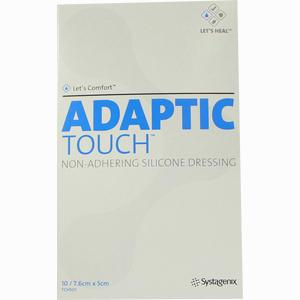 Abbildung von Adaptic Touch Nichthaftende Silikon- Wundkontaktauflage 7,6 X 5cm Wundgaze 10 Stück