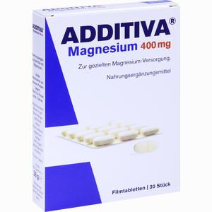 Abbildung von Additiva Magnesium 400mg Filmtabletten  30 Stück