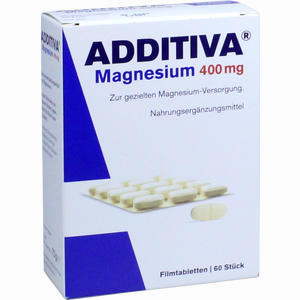 Abbildung von Additiva Magnesium 400mg Filmtabletten  60 Stück
