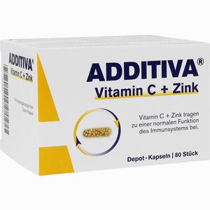 Abbildung von Additiva Vitamin C + Zink Depotkaps.aktionspackung Kapseln 80 Stück