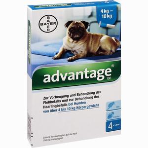 Abbildung von Advantage 100mg Lösung für Hunde  4 Stück