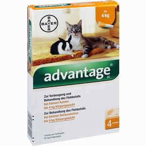 Abbildung von Advantage 40mg für Kleine Katzen und Kleine Zierkaninchen Lösung 4 x 0.4 ml