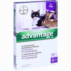 Abbildung von Advantage 80mg für Große Katzen und Große Zierkaninchen Lösung 4 x 0.8 ml