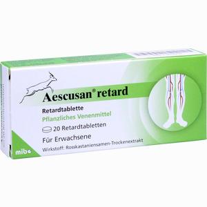 Abbildung von Aescusan Retard Retardtabletten 20 Stück