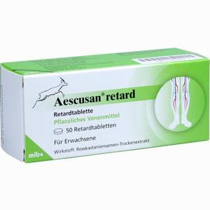 Abbildung von Aescusan Retard Retardtabletten 50 Stück