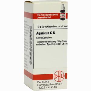 Abbildung von Agaricus C6 Globuli 10 g