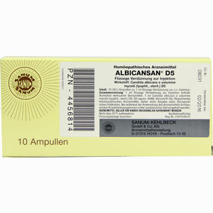 Abbildung von Albicansan D5 Ampullen 10 x 1 ml