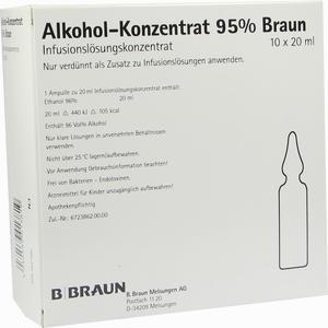 Abbildung von Alkohol- Konzentrat 95% Infusionslösungskonzentrat 10 x 20 ml