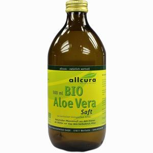 Abbildung von Allcura Aloe Vera Saft Bio  500 ml