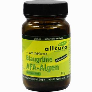 Abbildung von Allcura Blaugrüne Afa- Algen 250mg Tabletten  120 Stück