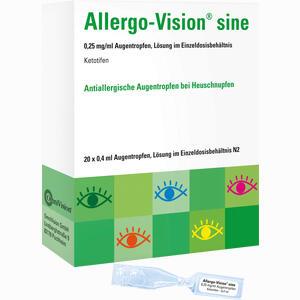 Abbildung von Allergo- Vision Sine 0.25 Mg/ml At im Einzeldosisbehälter Augentropfen 20 x 0.4 ml