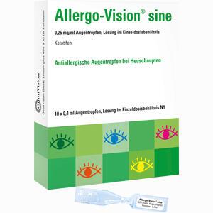 Abbildung von Allergo- Vision Sine 0.25 Mg/ml Augentropfen im Einzeldosisbehältnis  10 x 0.4 ml