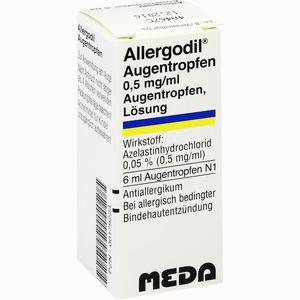 Abbildung von Allergodil Augentropfen  Meda pharma 6 ml