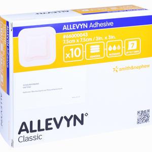 Abbildung von Allevyn Adhesive 7.5x7.5cm Haftende Wundauflage Verband B2b medical 10 Stück