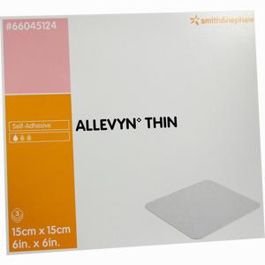 Abbildung von Allevyn Thin 15x15cm Hydroselektive Wundauflage Verband 3 Stück