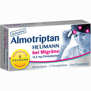 Abbildung von Almotriptan Heumann bei Migräne 12.5mg Filmtabletten  2 Stück