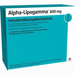 Abbildung von Alpha- Lipogamma 600 Infusionslösungskonzentrat  10 x 24 ml