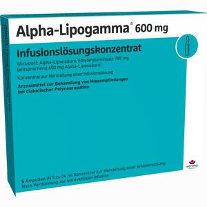 Abbildung von Alpha- Lipogamma 600mg Infusionslösungskonzentrat  5 x 24 ml