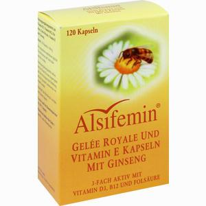 Abbildung von Alsifemin Gelee Royale und Vitamin E Kapseln mit Ginseng  120 Stück