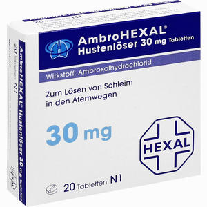 Abbildung von Ambrohexal Hustenlöser 30mg Tabletten  20 Stück