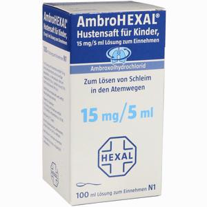 Abbildung von Ambrohexal Hustensaft für Kinder  100 ml