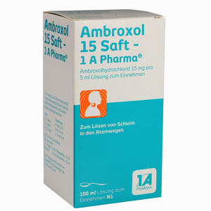 Abbildung von Ambroxol 15 Saft- 1a Pharma  100 ml