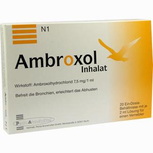 Abbildung von Ambroxol Inhalat Inhalationslösung 20 x 2 ml