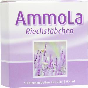Abbildung von Ammola Riechstäbchen Riechampulle Ampullen 10 x 0.4 ml