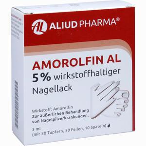 Abbildung von Amorolfin Al 5 % Wirkstoffhaltiger Nagellack Lösung 3 ml