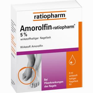 Abbildung von Amorolfin- Ratiopharm 5% Wirkstoffhaltiger Nagellack Lösung 3 ml