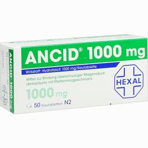 Abbildung von Ancid 1000mg Kautabletten 50 Stück
