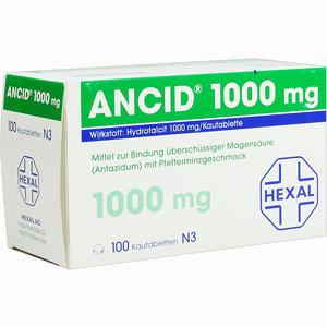 Abbildung von Ancid 1000mg Kautabletten  100 Stück