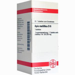 Abbildung von Apis Mellifica D6 Tabletten 80 Stück