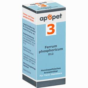 Abbildung von Apopet Schüßler- Salz Nr. 3 Ferrum Phosphoricum D12 Vet. Globuli 12 g