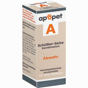 Abbildung von Apopet Schüßler- Salze Kombination A Abwehr Ad Us. Vet. Globuli 12 g