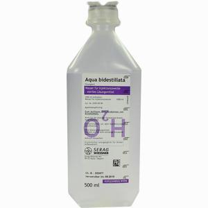 Abbildung von Aqua Bidestillata Plastik Infusionslösung 500 ml