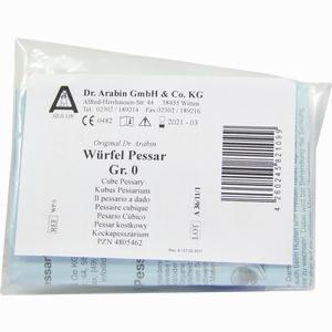 Abbildung von Arabin Würfelpessar Größe 0 1 Stück