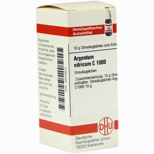 Abbildung von Argentum Nitricium C1000 Globuli 10 g
