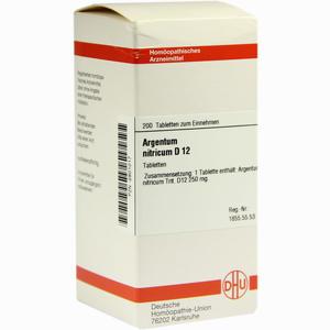 Abbildung von Argentum Nitricium D12 Tabletten 200 Stück